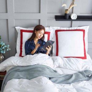 [텐바이텐] 팜데코 에일린 샴 라인 침대 등받이 쿠션 대형 70x70
