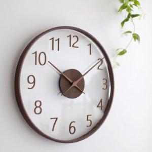 [텐바이텐] 바나나 [바나나] 큰41cm거실 다크브라운 유리나무 무소음 인테리어벽시계