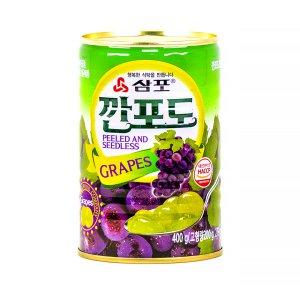 깐포도 400g 삼포 포도 과일 통조림