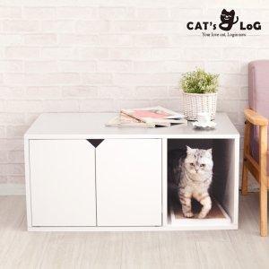 캣츠로그 와이드 고양이화장실 원목 대형 화장실