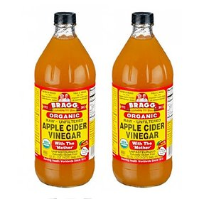 Bragg's organic apple cider vinegar 946ml x 2 large dogs / Bragg