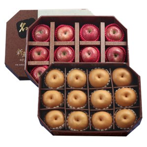 신선한아침 팔각 명품 과일선물 12kg (사과12+배12)