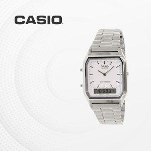 카시오 CASIO AQ-230A-7D 메탈밴드 전자손목시계