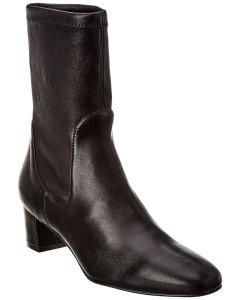 Stuart Weitzman Ernestine Leather Bootie