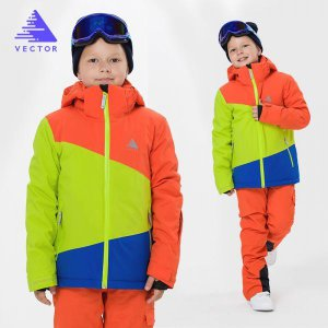 아동 컬러 스키복 상하의 세트 방수 자켓 멜빵 바지