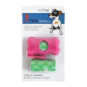 라이징펫 배변봉투 케이스세트 핑크&라이트그린 30매입
