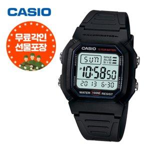 (무료각인) 카시오 전자시계 군인시계 W-800H-1A