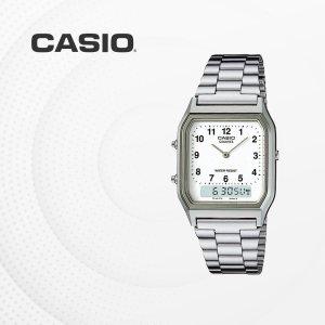 카시오 CASIO AQ-230A-7B 메탈밴드 전자손목시계