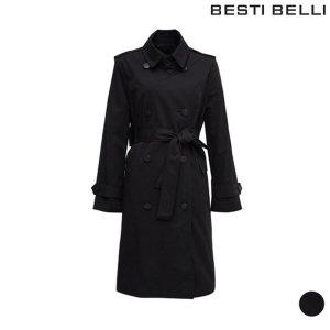 (하프클럽)[베스티벨리] 베스띠벨리 심플 면혼방 트렌치 코트 BUNAB9607_P072263038
