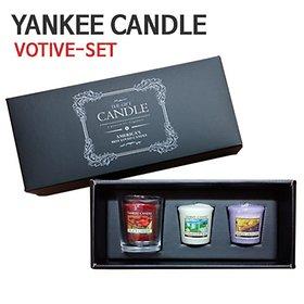 양키캔들 보티브3+보티브홀더 선물세트 쇼핑백포함