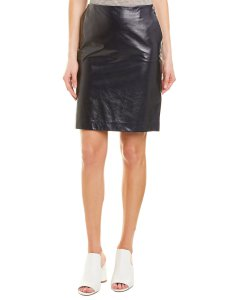 Theory Clean Leather Pencil Skirt