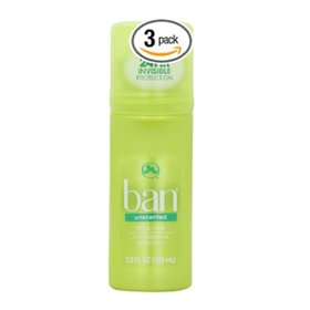 Ban Roll-On Deodorant Fragrance Free / 103ml X 3 dogs / Ban Roll-On