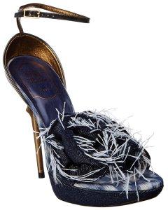 로저비비에 로저비비에 데님 앵클 스트랩 샌들 Roger Vivier Denim Ankle-Strap Platform Sandal
