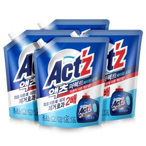 액츠 액체세탁세제 퍼펙트 2.2L - 베이킹소다 X3