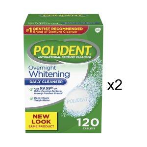 Poly dent denture cleanser / 120 Tablets 2 pack / Polident
