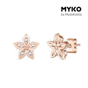 [미코주얼리] 14k 핀 비하이드 귀걸이 MK3EC31