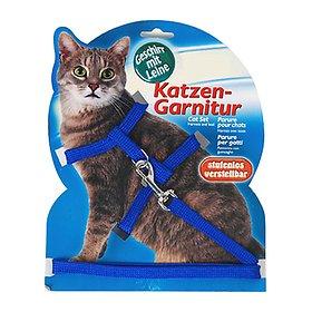 펫라이프 트릭시 고양이 가슴줄&리드줄 블루