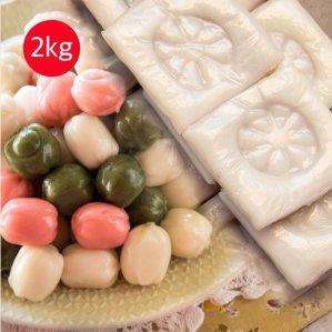 아리울떡공방 굳지않는 모듬꿀떡 1kg+굳지않는 백미 앙금절편 1kg