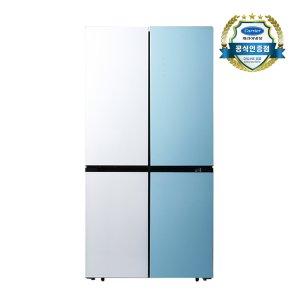 캐리어 파스텔 콤비 냉장고 4도어 CRFSN560WMFC(566L)