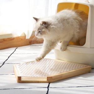 일상교감 원목 고양이 화장실 모래 매트 발판 사막화 방지