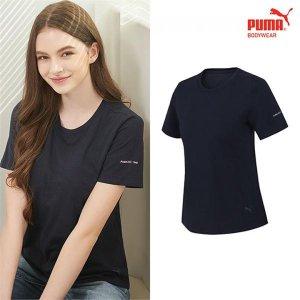 (하프클럽)[푸마바디웨어] 푸마 여성 노브라 티셔츠 1종 네이비_P081661903