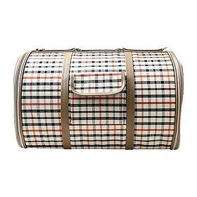 닥터펫 이동가방 체크무늬 브라운 소형