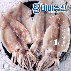 [수산쿠폰40%] 손질오징어 대사이즈 1.5kg(6미) /국내산,원양산 냉동