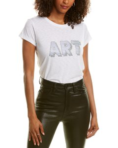 Zadig & Voltaire Skinny 3D Art T-Shirt