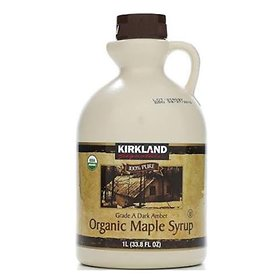 C / Kirkland Signature Organic Dark Amber Maple Syrup 1L