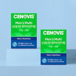 세노비스 남성용 멀티비타민미네랄 60캡슐/60일분x2개