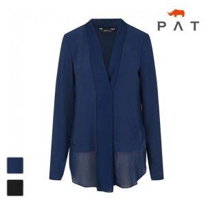 (하프클럽)[PAT] PAT 여성 숄카라 쉬폰배색 블라우스형 가디건1C42522_P075344602