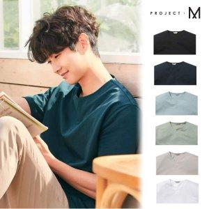 [현대백화점 신촌점] [프로젝트M] 쿨텐션 베이직 슬릿넥 반팔 티셔츠 (EPB2TR1361A)