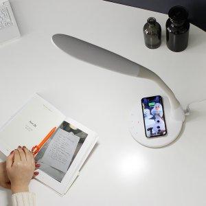 에스모도 무선충전 LED 스탠드 학습용 책상 SMODO-900