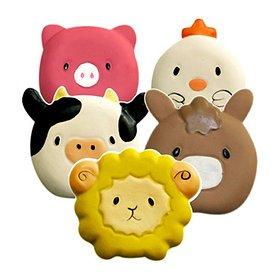 쏘아베 라텍스 삑삑이 장난감 동물농장 (색상랜덤)