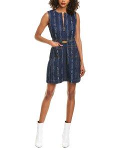 토리버치 벨티드 데님 미니 드레스 원피스 Tory Burch Belted Denim Mini Dress