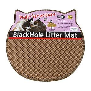 묘심 모래매트 고양이머리모양 베이지