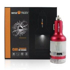 WiseTiger WT-CR3005 Multifunctional Emergency Safety Hammer 2.1A (Fast) Dual Port USB cigarette Ca