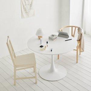 [룸앤홈] 나만의 홈카페 블랑 원형 테이블 800/1000