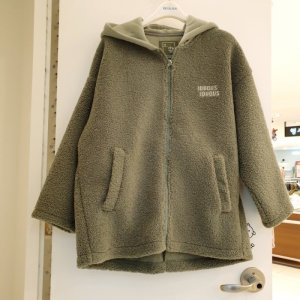 에꼴리에 GD01 오버핏 양털 무스탕 후드점퍼 20D0155 (6169941)