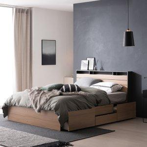 필로시 모던 2단 멀티수납 퀸 침대(엔슬립 E7 Q)