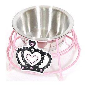 [펫박람회 최대 15%할인] 아이앤유 크라운 스텐 식탁 핑크 싱글