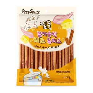 [유통기한 2021-01-25] 펫츠루트 찜쿡 닭가슴살 치즈 츄러스 400g