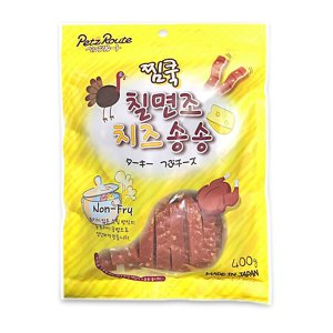 [유통기한 2020-09-25] 펫츠루트 찜쿡 칠면조 치즈 송송 400g