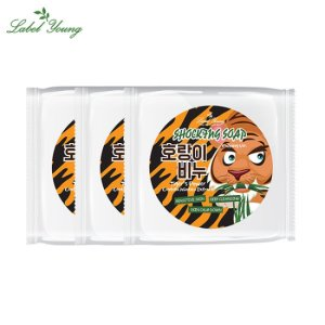 [라벨영] 호랑이비누 3개/진정세안/카밍/병풀 클렌저