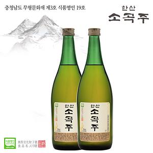 한산소곡주 18% (700ml 2본)