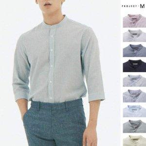 [현대백화점 목동점] 프로젝트M (EPA2WC1671A) 남성 쿨코튼 헨리넥 7부 셔츠