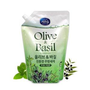 무궁화 키친솝 친환경 주방세제 올리브&바질 1.2L