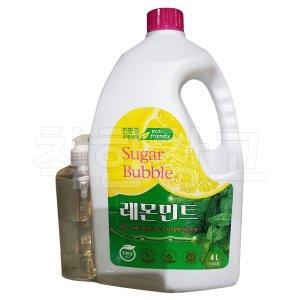 슈가버블 레몬민트 주방세제 4L + 450ml