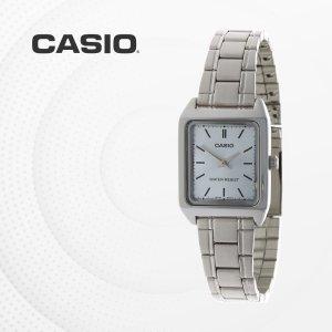 카시오 CASIO LTP-V007D-2E 메탈밴드 여성 손목시계
