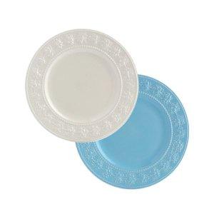 웨지우드 페스티비티 20cm 접시 2p (아이보리/블루)